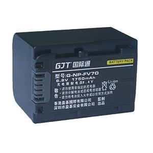 GJT国际通数码电池NP-FV70【适 用 于】HDR:HDR-HC7、HDR-UX5E、HDR-UX7、HDR-HC3、HDR-CX7E、HDR-CX100E/B、HDR-CX100E/R、HDR-CX100E/S、HDR-CX12E、HDR-HC9E、HDR-SR10E、HDR-SR11E、HDR-SR12E、HDR-TG1E、HDR-XR100E、HDR-XR500E、HDR-XR520E、HDR-CX520E、HDR-CX500E、HDR-CX150E/B、HDR-CX150E/R、HDR-CX150E/S、HDR-CX350E、HDR-CX550E、HDR-XR150E、HDR-XR350E、HDR-XR550E、DCR: DCR-DVD103、DVD108E、DCR-DVD202、DCR-DVD203、DCR-DVD308、DCR-DVD403、DCR-DVD405、DCR-DVD505、DCR-DVD508、DCR-DVD803、 DCR-DVD602、DVD608E、DVD610E、DCR-DVD653、DCR-DVD703、DVD708E、DVD710E、DCR-DV