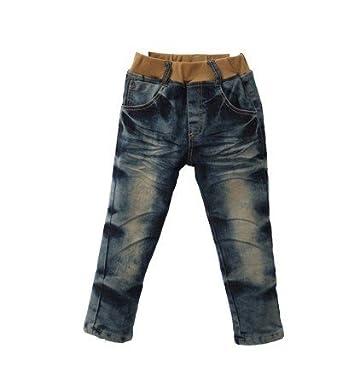 儿童牛仔裤加绒男童