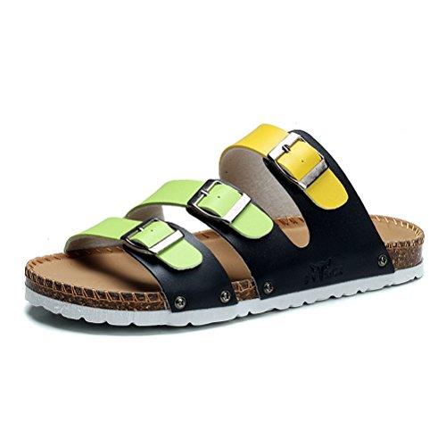 GNSJ 公牛世家 2015夏季新款拖鞋男 软木拖防滑凉拖 韩版潮流露趾厚底沙滩凉鞋