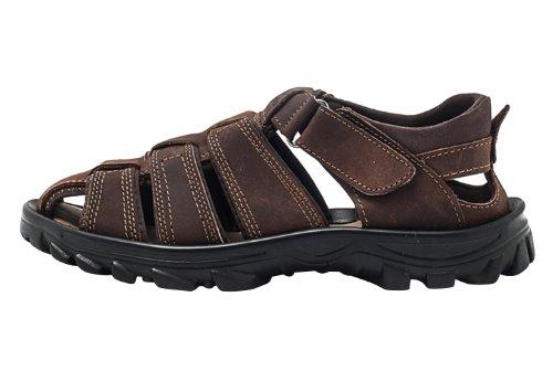 DEEWAHUA 2014夏季新款时尚男子凉鞋牛皮面休闲男鞋 A2037