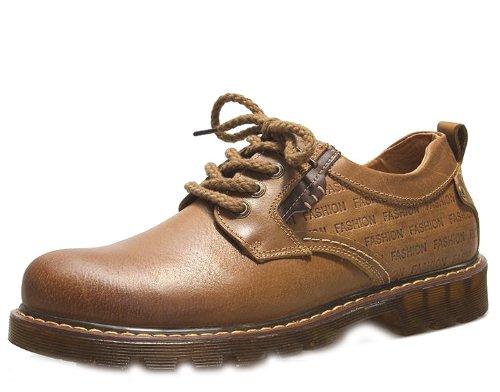 Camel 骆驼 英伦时尚超酷牛仔鞋 透明牛筋义潮鞋休闲鞋板鞋 真皮流行工装皮鞋 个性时尚男鞋