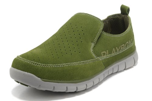 PLAYBOY 花花公子 春夏款 2013新款男式时尚网布透气鞋休闲鞋 轻便鞋懒人鞋 CX35011 豆绿色 44