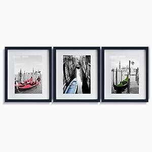 欧式有框装饰画客厅现代简约黑白画沙发背景挂画墙画