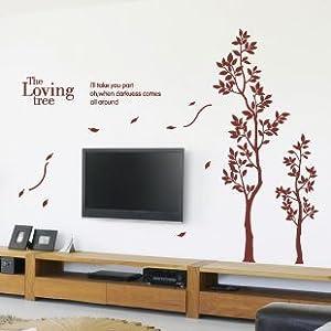 浪漫屋 墙贴〖相思树〗爱之树爱情树 书房卧室客厅电视背景墙帖 15 小