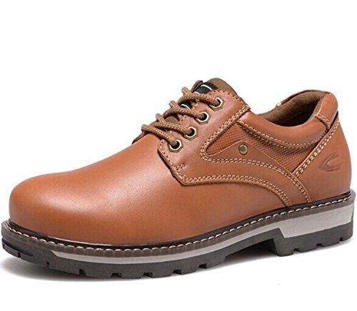 CAMEl ACTlVE 英伦系带复古真皮低帮马丁鞋 经典商务休闲鞋皮鞋 牛皮大头工装鞋 户外男鞋子