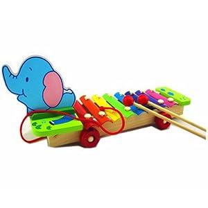 xinlei新蕾 酷趣儿童早教音乐教具八8音阶彩色钢片手敲琴 木制玩具图片