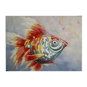 居饰品 油画 手绘油画 金鱼
