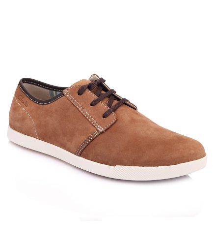 CLARKS 其乐 绒面牛皮材质系带设计男士休闲鞋