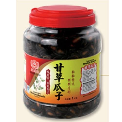 台湾特产食品 桶装甘草瓜子1000克休闲零食子