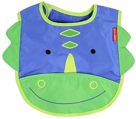丸子宝贝 可爱动物 婴儿防水围兜围嘴 口水衣 饭衣 防水口水巾 恐龙