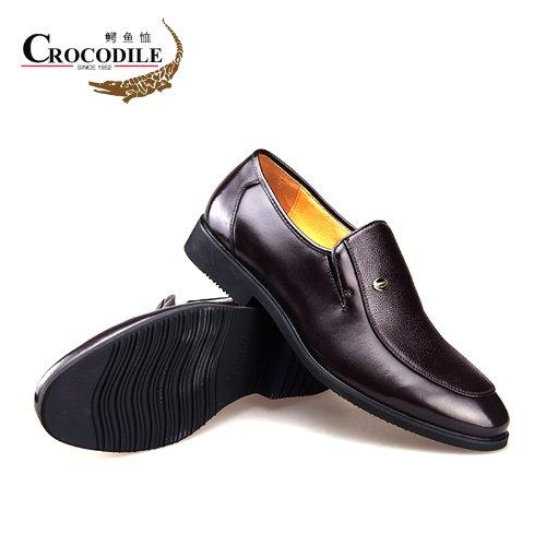 CROCODILE 鳄鱼恤 男鞋 2014春季新款正装商务休闲皮鞋B3360363棕色