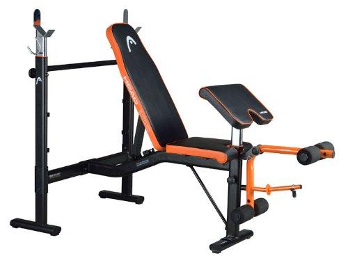 HEAD 海德 推举椅 H781 bench 家庭健身房 史密斯机 健身机 健身椅 二头肌训练凳 健身器材 世界顶级运动品牌-图片