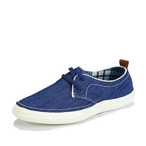 Tt&Mm 汤姆斯 男鞋正品夏季新款男士帆布鞋休闲韩版潮低帮系带板鞋536605M