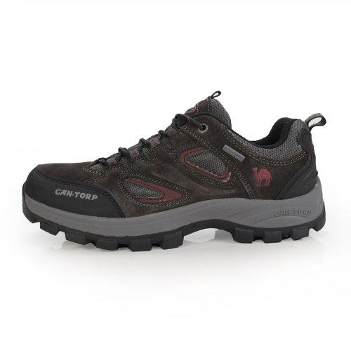 Cantorp 新款美国骆驼正品反绒牛皮户外徙步透气登山鞋男士D13071