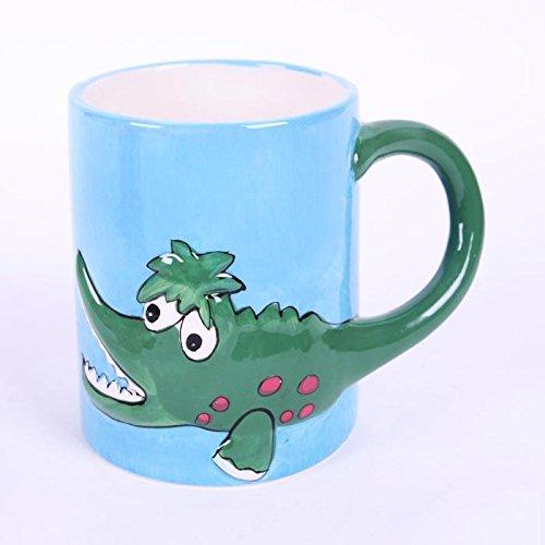 大贸商 马克杯 动物图案陶瓷杯 鳄鱼杯子 水杯
