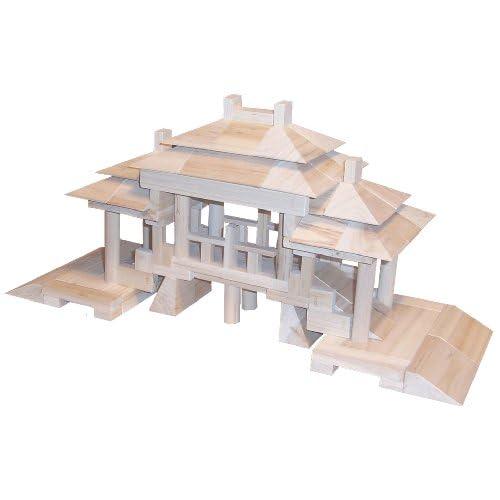立特建筑科普木质积木廊桥g0807图片