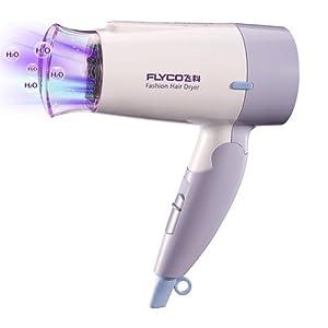 FLYCO飞科电吹风FH6206(1200W功率 负离子功能 可折叠式 冷/热风 健康柔风护发 过热保险 波纹丝热量均衡功能)