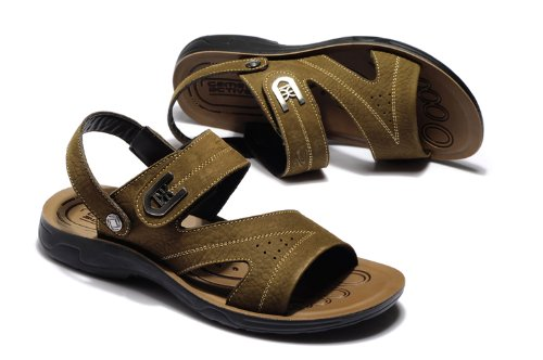 Camel Active 骆驼动感 德国骆驼沙滩鞋男士真皮凉鞋休闲鞋拖鞋 BL5365N-3