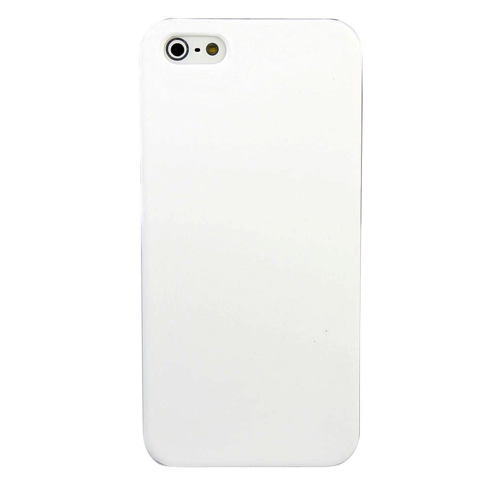 苹果 iphone 5 手机壳 手机套 实用简约纯色橡胶壳 白色   屏保