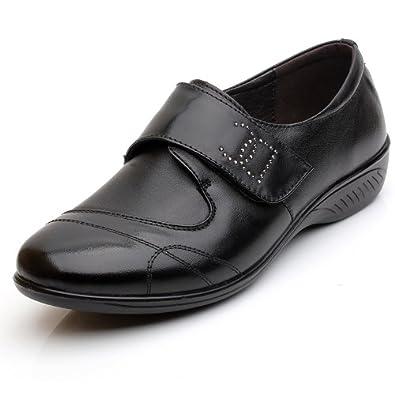 中老年深口软底女皮鞋 春秋款