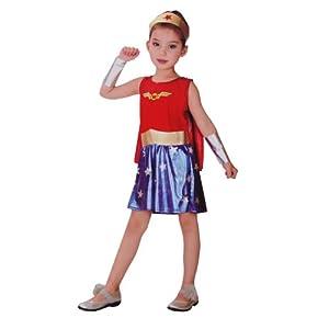 新品 万圣节装扮 表演 小孩服装 可爱女超人 裙装套装
