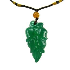 龙玺 巴西绿玛瑙挂件 树叶吊坠 造型优美 精致小巧 2388
