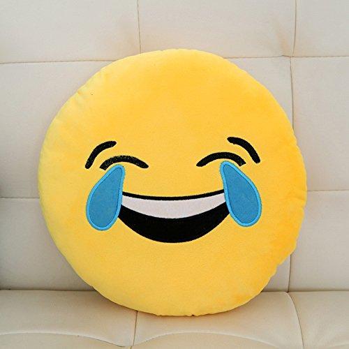 微信表情抱枕 圆脸趴枕靠垫 毛绒卡通动漫靠背 沙发抱枕靠垫 破涕为笑图片