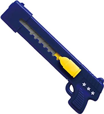 deli 得力 2023美工刀 学生创意文具 卡通手枪造型美工刀 裁纸刀 小