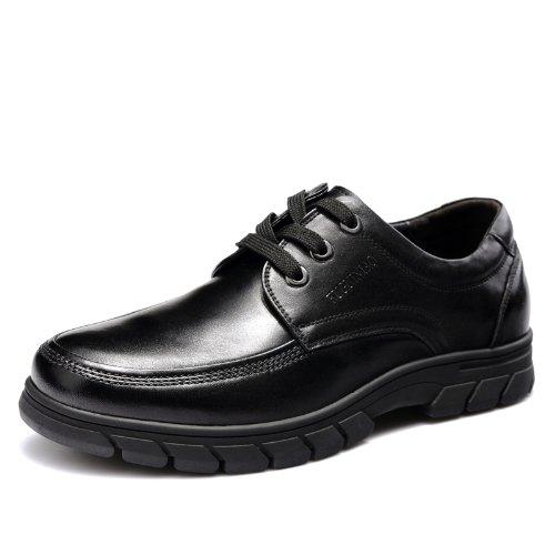 Fuguiniao 富贵鸟 顶级头层牛皮商务休闲鞋 透气户外休闲鞋 防滑橡胶底男鞋