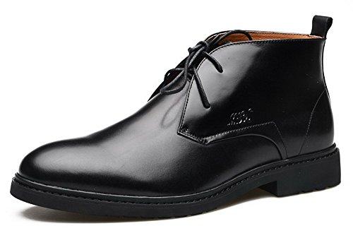 Mulinsen 英伦系带短靴 复古牛皮男鞋子 真皮正装鞋 商务休闲鞋 高帮皮鞋皮靴 经典男靴子 MQ8L33183