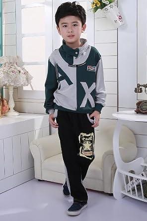 模特天使 2013新款春秋款童装 男童休闲运动服纯棉卫衣套装 x