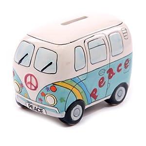 pearhead手绘陶瓷复古汽车存钱罐(彩绘蓝) - 玩具