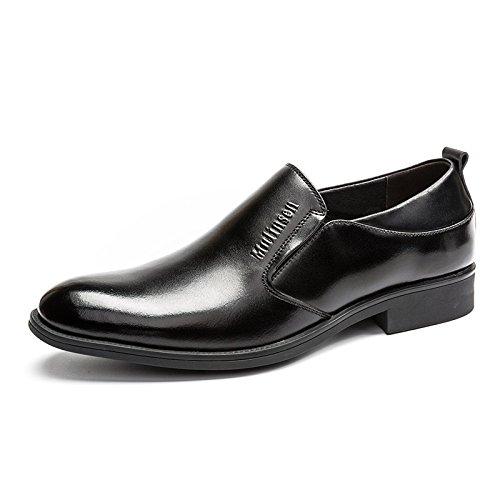 木林森 MULINSEN 男鞋透气真皮商务正装皮鞋男士英伦风尖头婚鞋子
