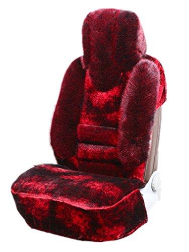 5座车座垫汽车坐垫 毛绒座垫 皮垫车垫 皮革座椅保养 汽车装饰品(酒