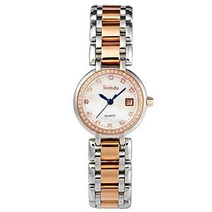 包邮! 优雅气质女性品牌手表 金色韩版精钢石英女表瑞士手表高清图片