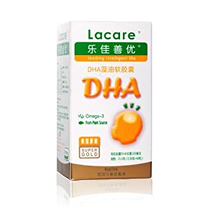 乐佳善优DHA藻油软胶囊婴幼儿60粒 美国原装进口