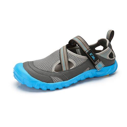 骆驼牌 户外休闲鞋 新品透气魔术贴网布透气休闲潮男鞋子 W422162056