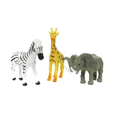 超值野生动物套装老虎狮子豹鹿大象斑马仿真动物模型玩具批发 yt6551
