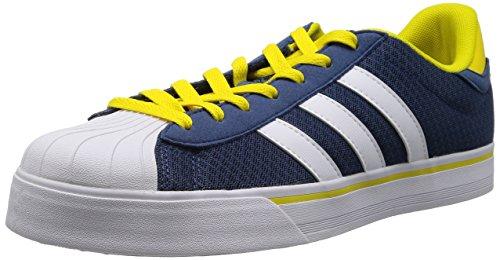 Adidas NEO 阿迪达斯运动生活 BASKETBALL 男 休闲篮球鞋 BBNEO CLASSIC LT F76371 远景蓝 F14/FTWR 白/黄 41 (UK 7-)