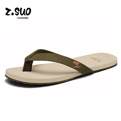 Z.SUO走索 夏季韩版 拖鞋 凉鞋 网鞋 帆布鞋ZS1801军绿色