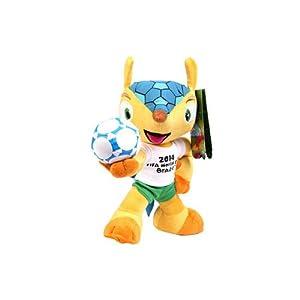 yot 亿欧泰 2014世界杯吉祥物 巴西足球 福来哥犰狳 毛绒玩具 28cm