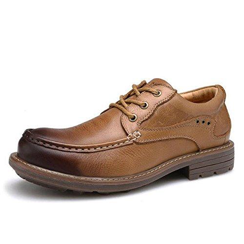z.suo 英伦男士休闲鞋 大头皮鞋 低帮鞋 工装鞋 户外工作鞋 男休闲运动鞋 头层牛皮男皮鞋