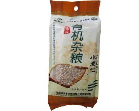 希多多 天然富硒杂粮 原生态有机养生营养丰富食品农家小麦仁400g袋 健脾润肤-图片