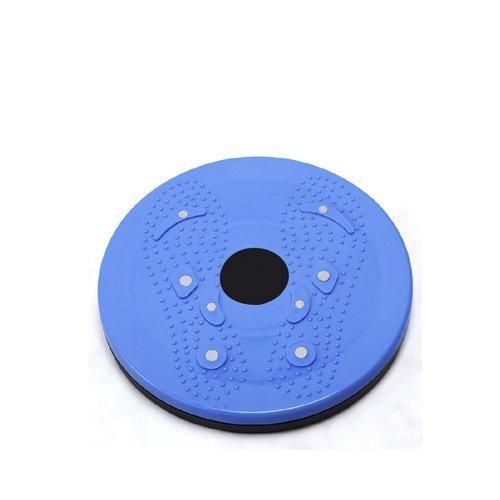 JUFIT 居康 家用健身扭腰盘美腰盘 按摩健身扭腰盘 磁疗扭腰盘 减肥 收腰 室内懒人运动减肥瘦腰收腹器材 磁疗多功能扭腰盘 (红、蓝)颜色随机-图片