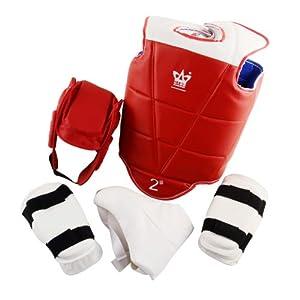 山人运动SRTQ-6003跆拳道护具 成人儿童跆拳道专业护具 护头 护胸 护肘 护腿 护裆  5件套送包