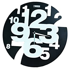 圆形立体镂空数字挂钟