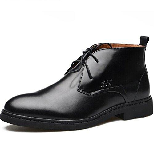 Mulinsen 木林森 英伦系带高帮经典复古牛皮真皮正装鞋商务休闲鞋皮鞋皮靴短靴男靴子 男鞋子