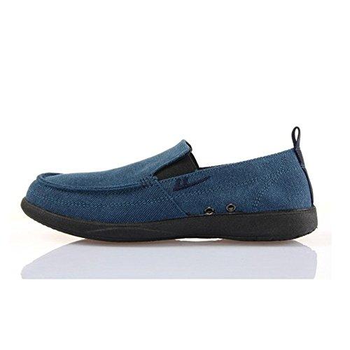 回力 透气男士帆布鞋软底工作鞋一脚蹬懒人男鞋休闲鞋帆船鞋W912