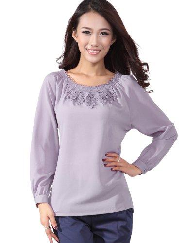 OSA 罗兰清梦秋装上衣韩版女士衬衣长袖打底衫修身衬衫C23623
