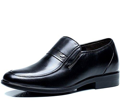 FUGUINIAO 富贵鸟 英伦男士低帮透气套脚商务休闲鞋 复古经典真皮正装鞋皮鞋 英伦头层牛皮内增高男鞋
